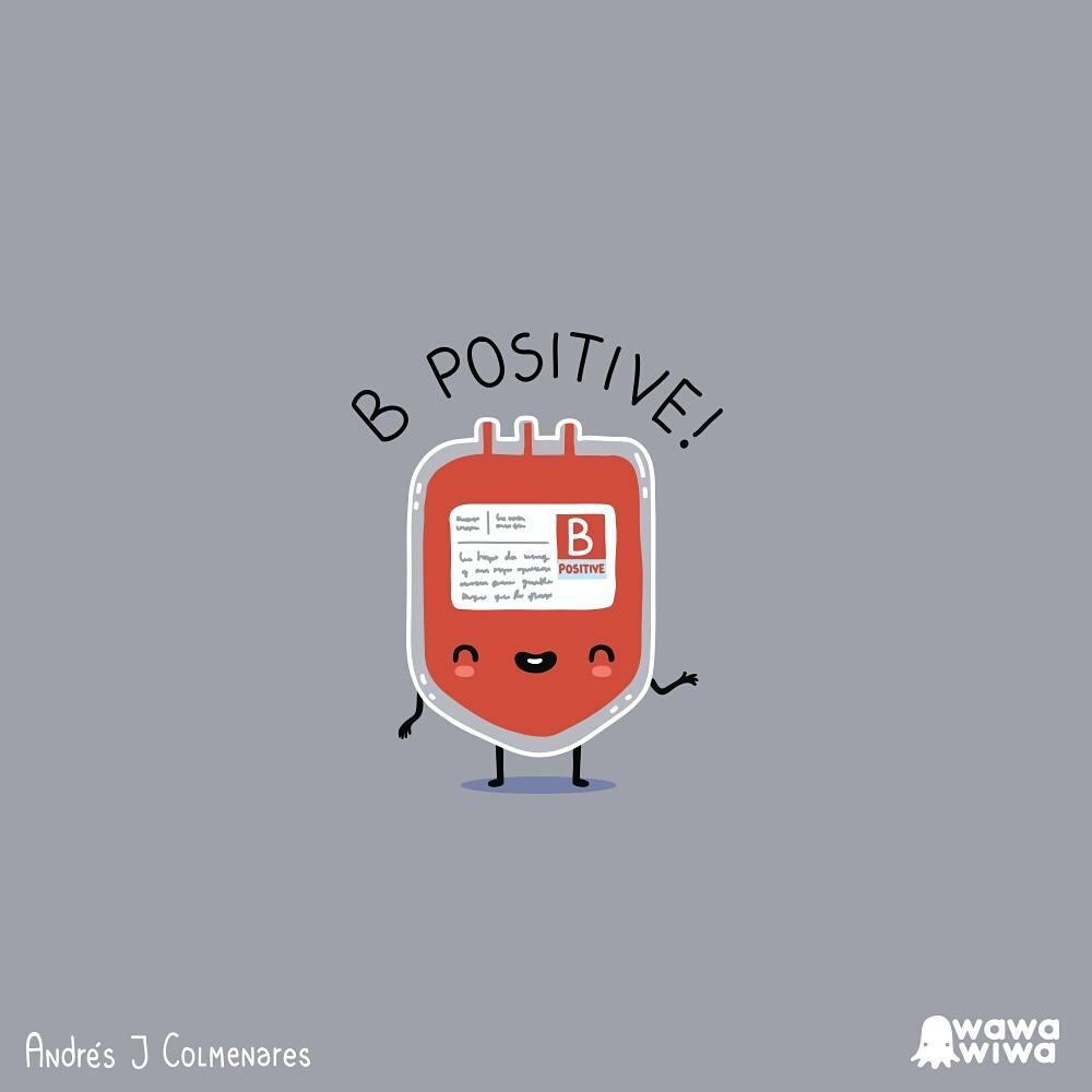 comic about dextrose that says b positive