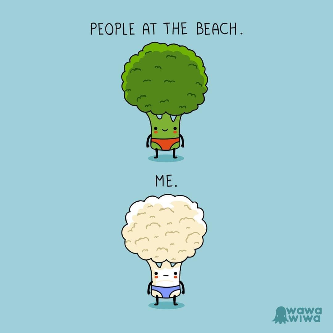 comic about broccoli