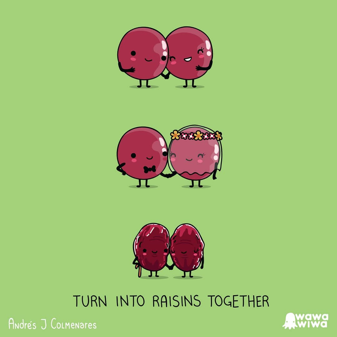 comic about raisins growing together