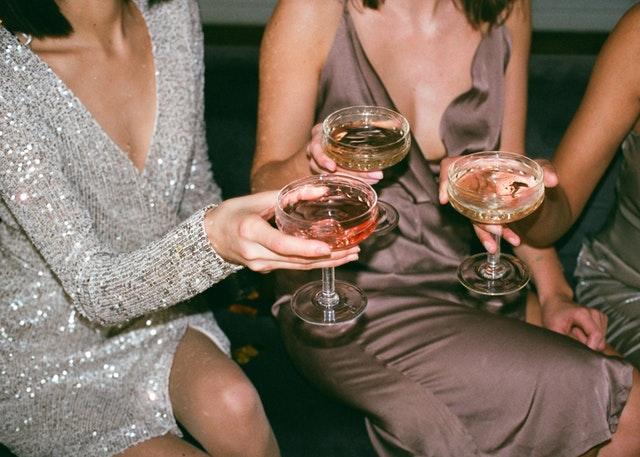 ladies drinking wine