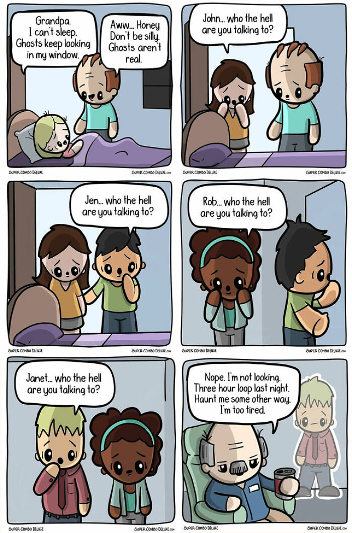 funny comics about ghosts
