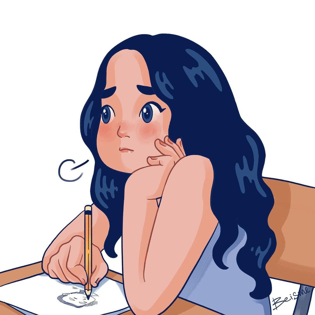 a comics of a woman thinking of her man