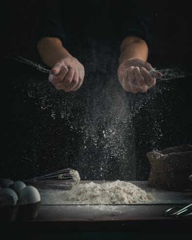 crop photo of a man cooking