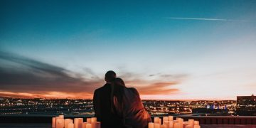 couple overlooking the city