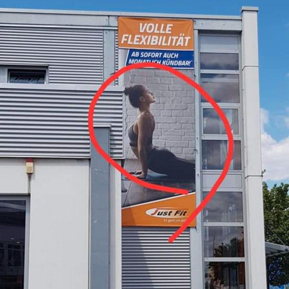 funny yoga advertising