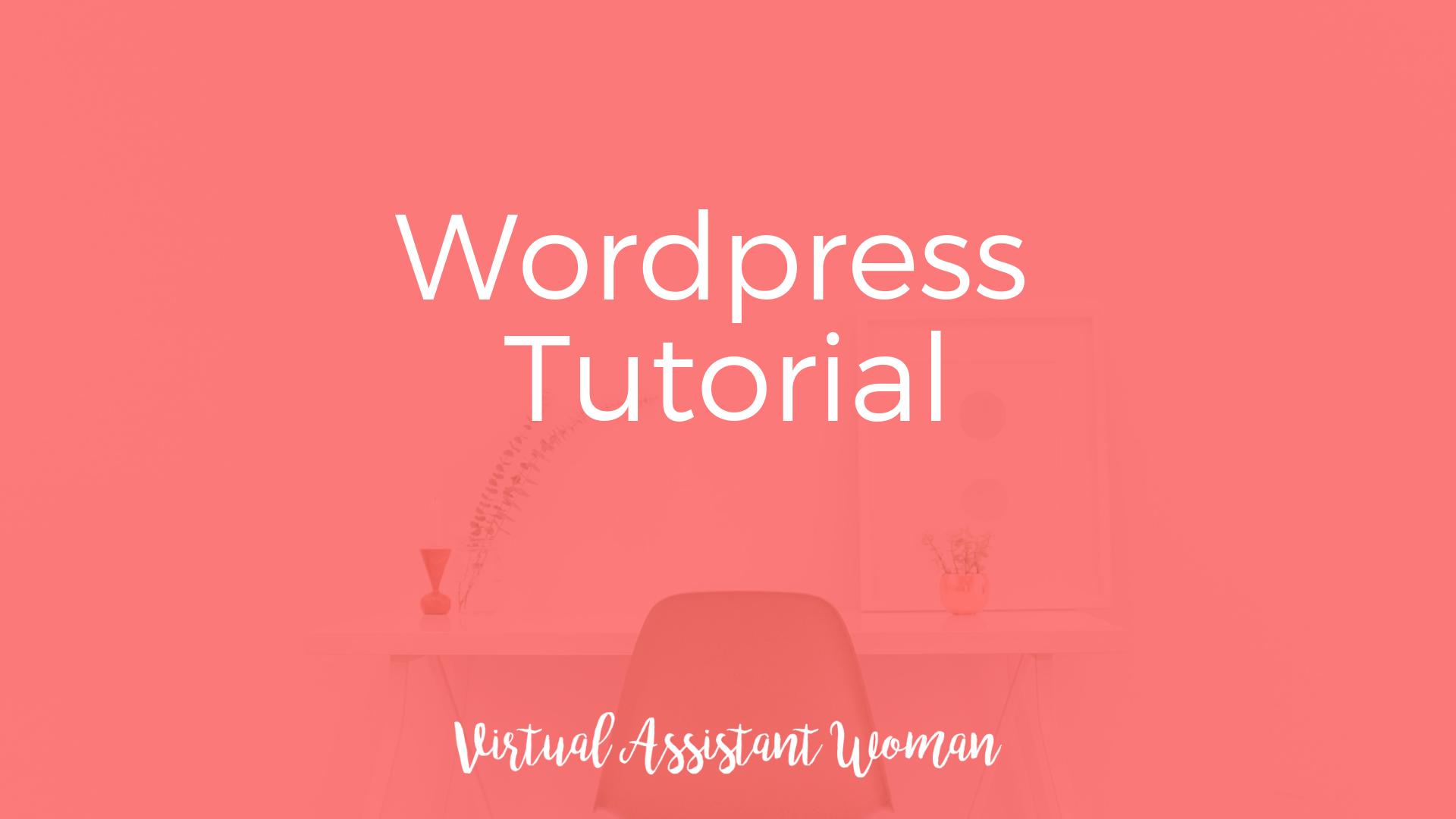virtuelle assistenz onlinekurs wordpress