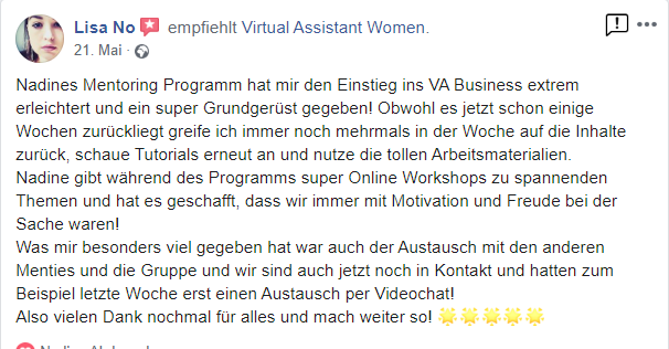 virtuelle assistenz mentoring