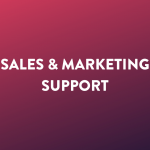 Sales en marketing support