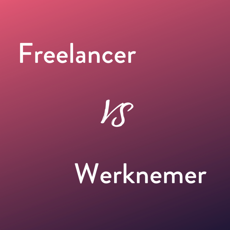 Freelancer vs werknemer