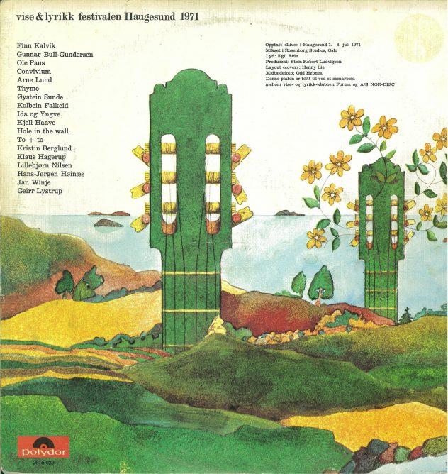 Baksiden på vinylen utgitt 1971.