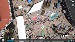 Dronevideo Street Art Brande 2019