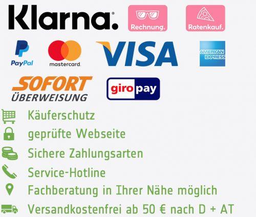 sichere Zahlungsoptionen
