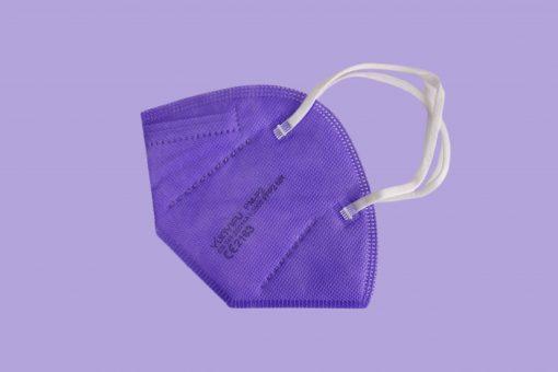 ffp2 maske lila color einzeln