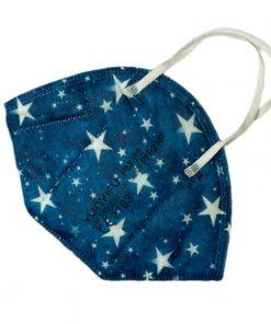 FFP2-Maske Muster Sterne Blau