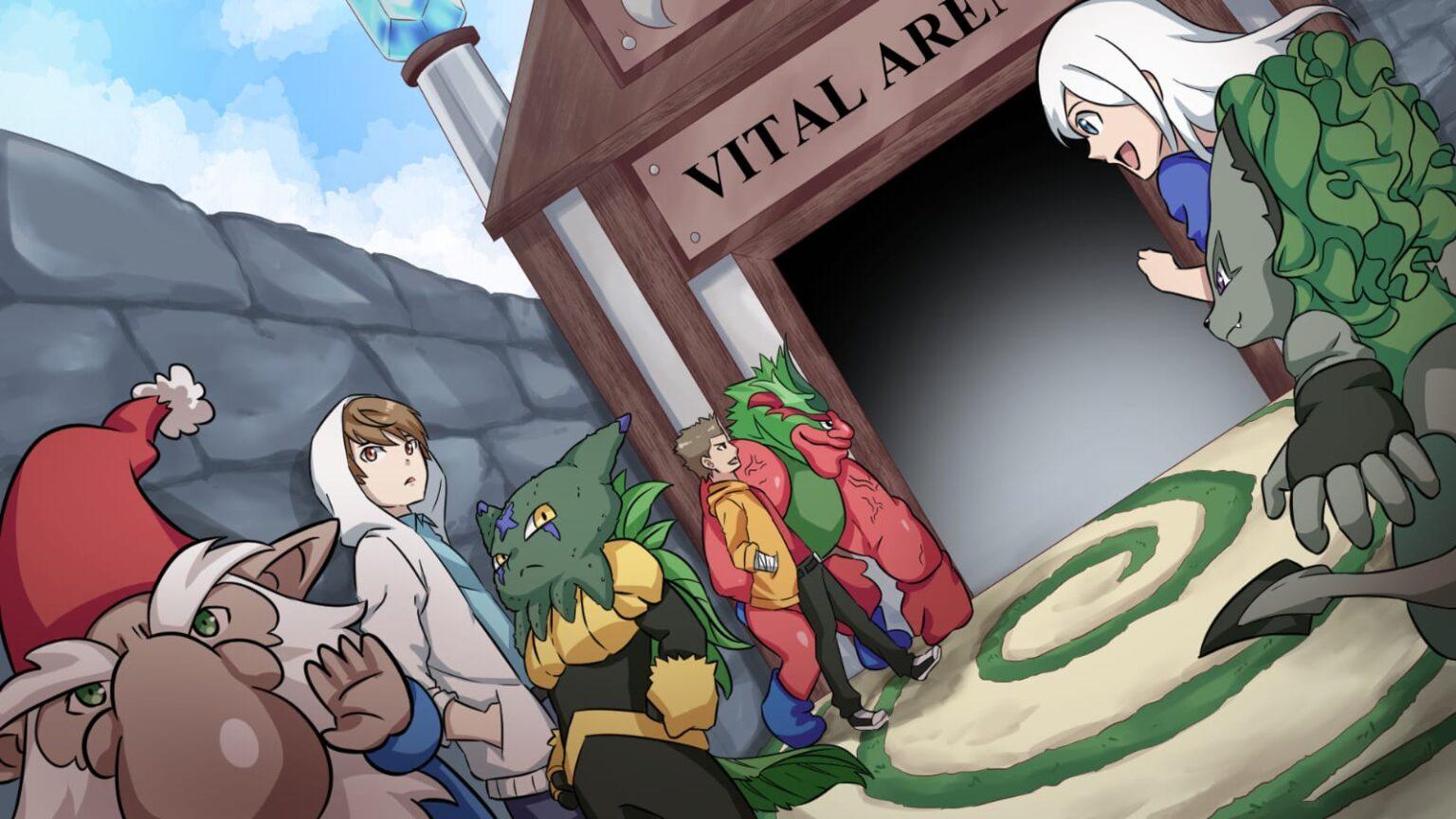 Vital Arena, Kinder mit Vital Monster, Zwerg