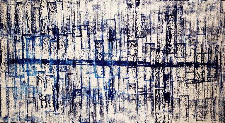 Peinture abstraite, tableau sur toile, peinture grand format , art actuel, art contemporain