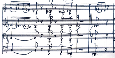 sheet music from Vladimir Levitts composision