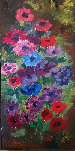 Blommor 33x57 *1.200 kr ram
