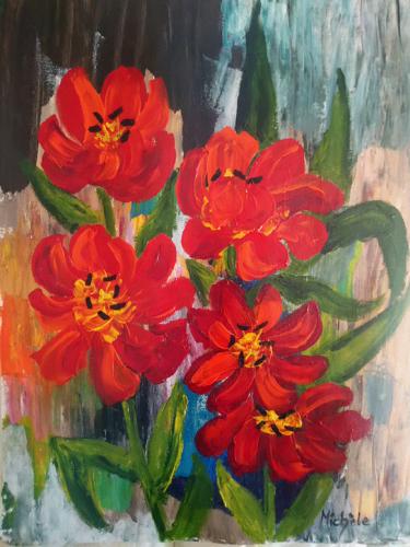 Blommor 44x60 *1.200 kr