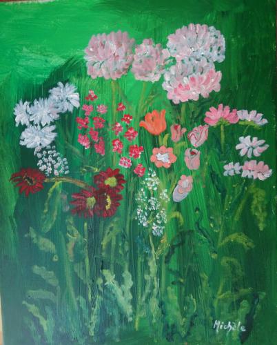 Blommor 39x49 *2.000 kr