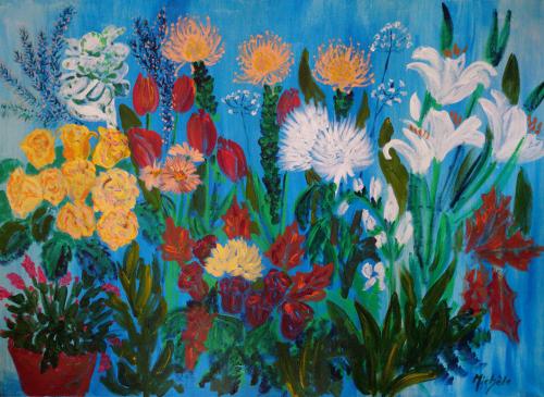 Blommor 65x89 *800 kr