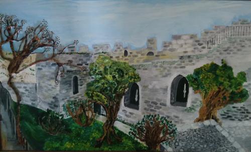 Wall Jerusalem 67x107 *5.000 kr ram