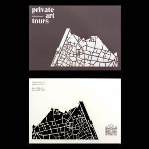 Kaarten Private Art Tour -voorbeeld portfolio bedrijven en materialen Papier & Karton