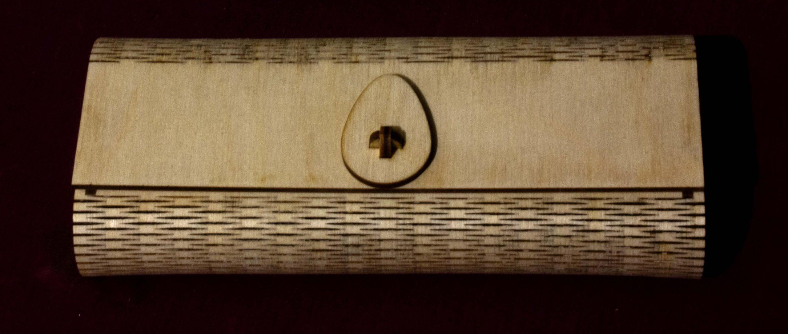 Smal brillendoosje -voorbeeld materialen Hout en aanverwanten