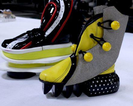 Sneaker Veerle De Ceulener -voorbeeld materialen leer en kunstleer