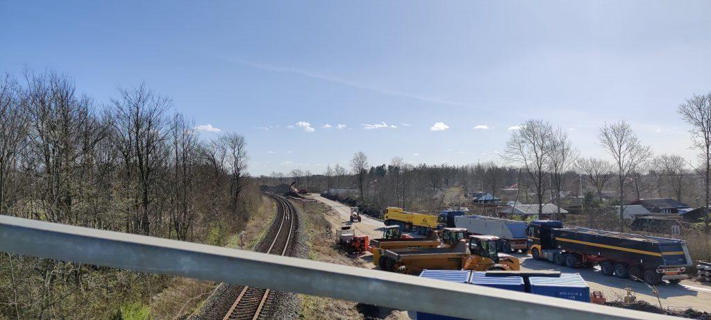 Billede af arbejdet med den nye bane til Aalborg Lufthavn