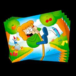 Vierkant Eiland Ansichtkaarten