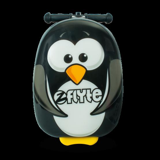 Percy the penguin, en tuff väska med sparkcykel