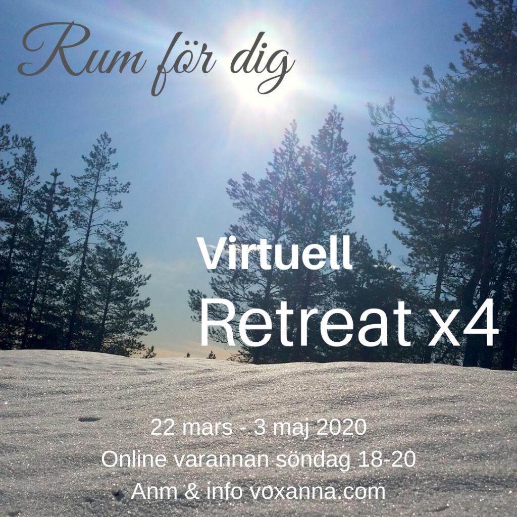 Inbjudan Virtuell Retreat x4 mars 2020