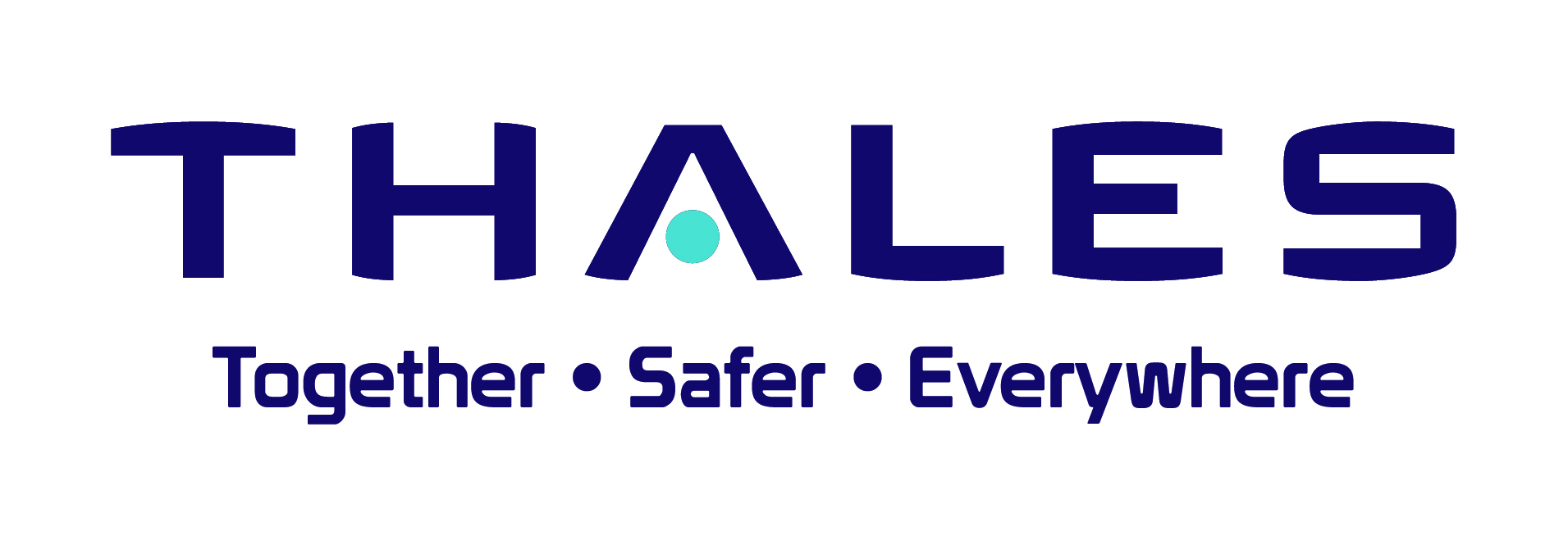 Thales logo - Together-Safer-Everywhere - pantoneopwit