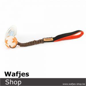 Wafjes-Bungee ChocolateBrown Orbee-Tuff Planet Ball Orange Medium Fleece Orange
