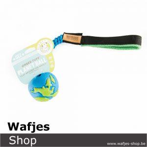 Wafjes-Bungee Metalic Royal Blue Orbee-Tuff Planet Ball Blue Medium Fleece Green
