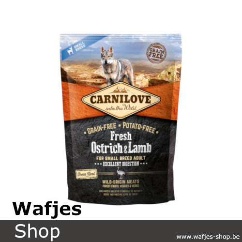 CARNILOVE - Fresh Ostrich & Lamb for small dogs 1,5kg