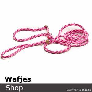Hondenlijn Pink Ribbon 6mm-1