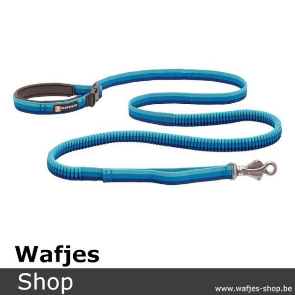 RuffWear Roamer Bungee Dog Leash Blue Atoll