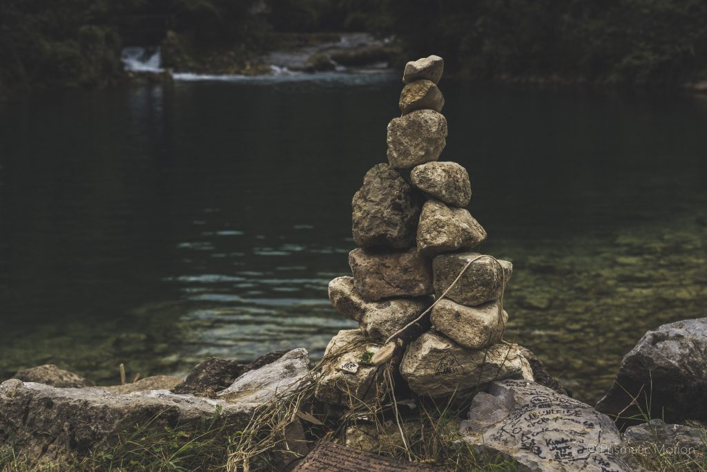 Stack of stones at Modem festival