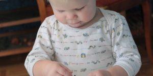 Body omgjord till babytröja.