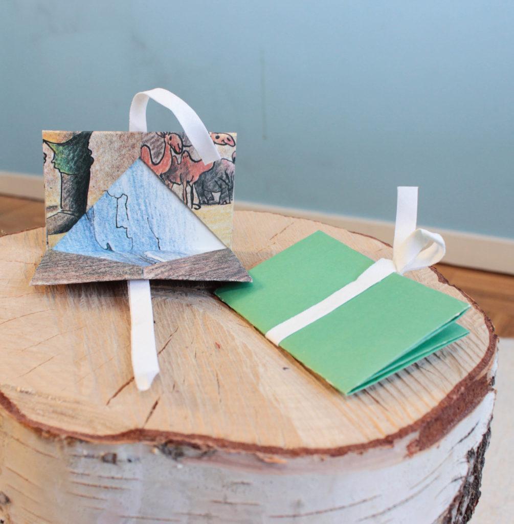 Presentkortshållare i origami.