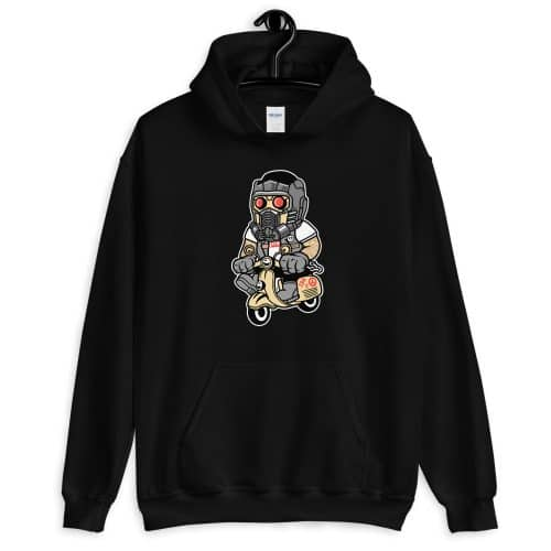 Star Lord Scooter Front Pocket Hoodie