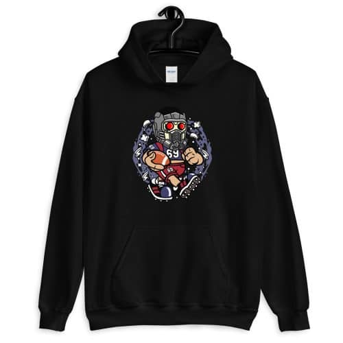 Star Lord Football Front Pocket Hoodie