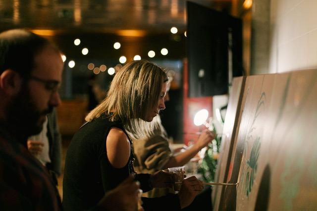 live painting en soirée