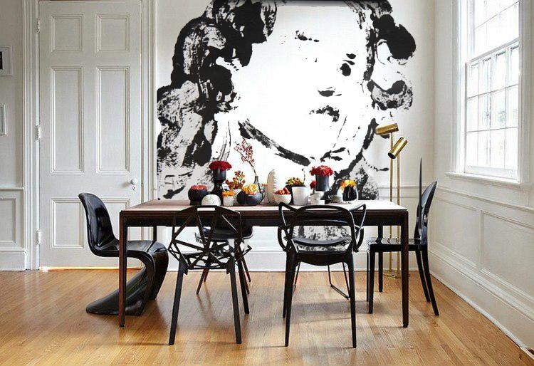 """fresque """"Romance"""" salle à manger"""