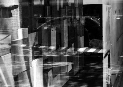 Laurent Berger. Reflets rectangle NB - Berger Laurent