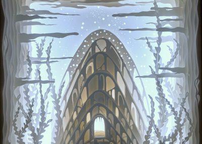 RADU STEFAN POLEAC, Deep Atlantis, CUT OUT 3D light box, , Contemporary Art, Belgium - Radu Stefan