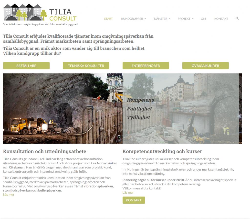 Kunder Webbduon, Tilia Consult AB