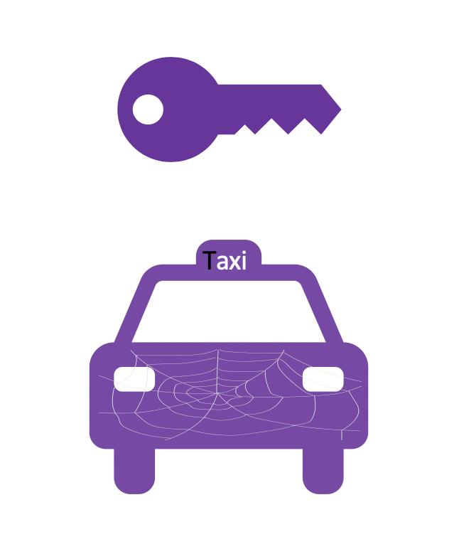 Taxi Taxiverhuur Pakketservice Logo Taxiverhuur